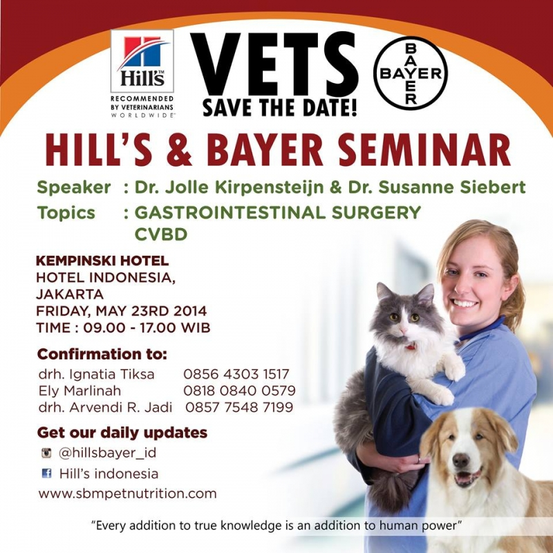 23/05/14 - Hill's & Bayer Seminar